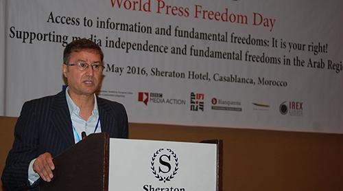 مجاهد: حرية الصحافة عمل متواصل يتفاعل مع التطورات السياسية والاقتصادية