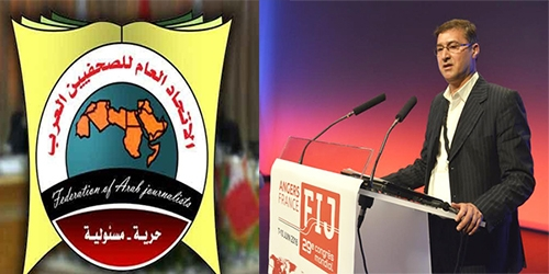 الاتحاد العام للصحفيين العرب يهنئ مجاهد بمنصب النائب الأول